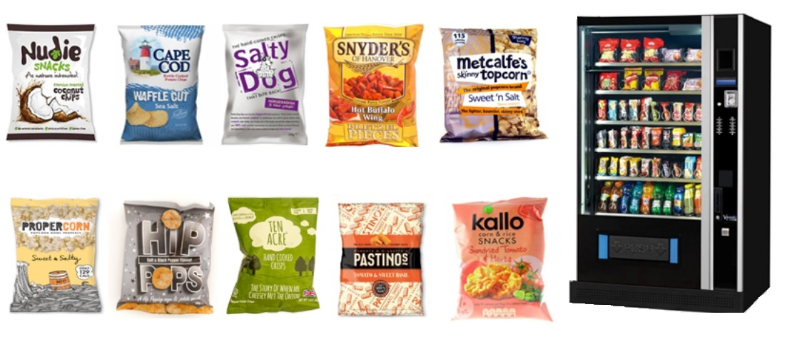 healthy crisps for vending machines