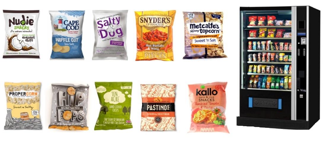 healthy crisps for vending machines